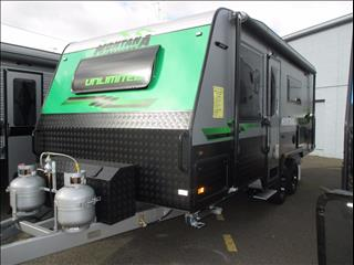 "Montana "" UNLIMITED "" Off Road 19'6"" Tandem Tourer, Queen Bed, Ensuite, Cafe Seating...Tare Weight 2450 KG"