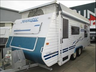 "Majestic Pop Top, 19'6"" Tandem Tourer, Island Double Bed,"