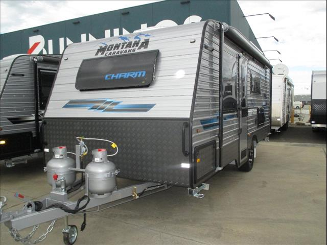 """Montana """" Charm"""" 18'6"""" Semi Off Road Single Axle Tourer, Queen Bed, Ensuite, Cafe Seating...."""