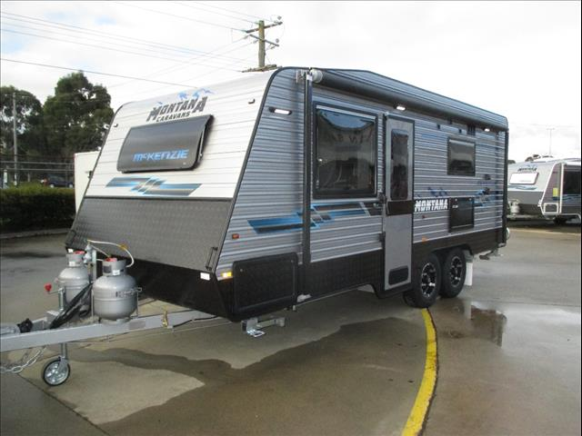 "Montana McKenzie 19'6""...SOLD at Show... New Model, Tandem Tourer, Queen Bed, Ensuite and Cafe Seating...Prado Friendly"