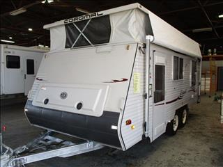 2006 Coromal Excel 547s, ...SOLD....Tandem Shower and Toilet, Double Bed, Front/Side Kitchen., L-Shaped Dinette....
