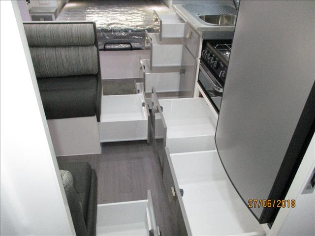 """2018 Montana """" Charm"""" 18'6"""" ..Semi Off Road Single Axle Tourer, Queen Bed, Ensuite, Cafe Seating...."""
