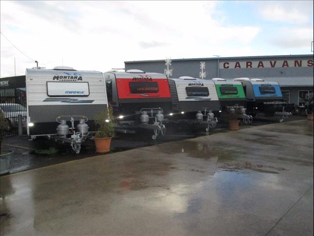 "2018 Montana Caravans, 18'6"" Single Axle to the Tandem  20'6"" ON and OFF ROAD Models now In Stock"