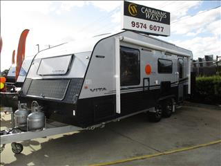 2015 Nova Vita 23' Caravan, Luxury Tandem Tourer, Queen Bed, Ensuite, Side Club Lounge......