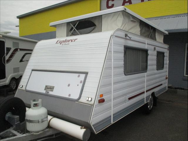 Roadstar Explorer Pop Top, Rear Door Model with Single Beds, Lightweight Tourer.