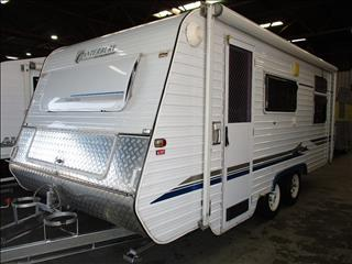2002  Paramount Canterbury Caravan, 19' Tandem Tourer,  Queen Bed, Front Kitchen.......
