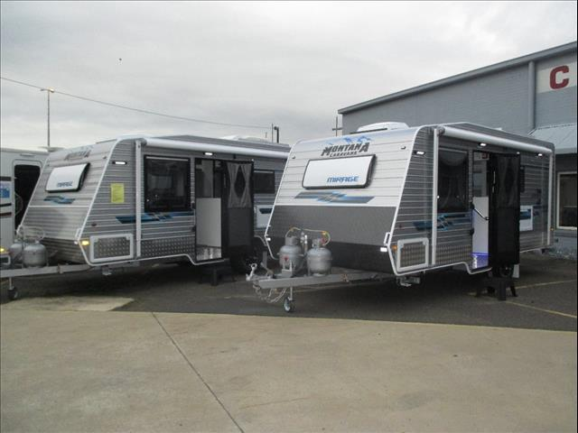 """Montana Mirage 18'6"""" , 2017 Semi-Off Road Model, Queen Bed and Ensuite...Tare Weight 1880 KG..."""