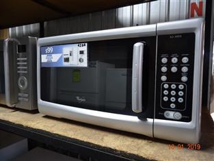 Whirlpool silver microwave