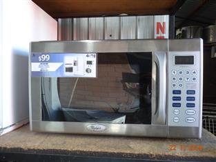 Whirlpool stainless steel microwave