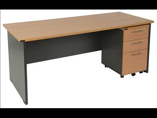 Desk with Mobile Drawers.