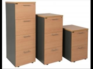 Filing Cabinets Melamine 2, 3 and 4 Drawers.
