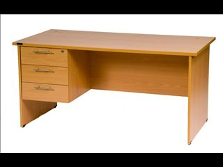 Desk with Fixed Drawers 1500 x 750.