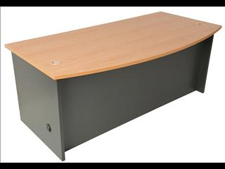 Desk with Bow Front with Drawers