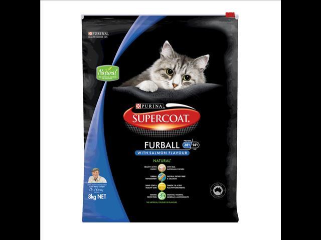 Supercoat Cat Furball  Salmon 8kg