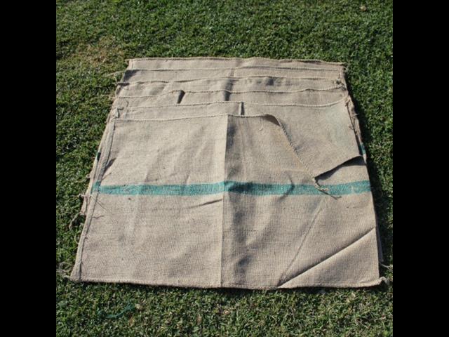 Hessian Bag / Sack Green Stripe