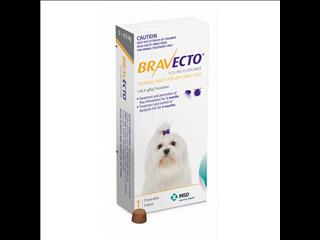 Bravecto Yellow very small Dogs weighing between 2-4.5kg