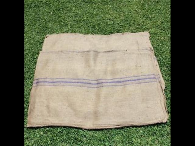 Purple stripe Hessian Bag/sacks