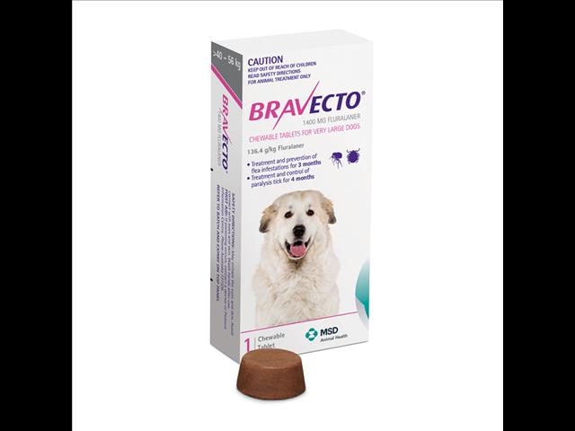 Bravecto Purple for X Large Dogs weighing between 40-56kg