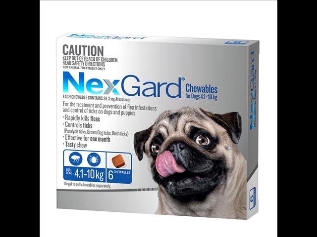 NexGard Large for Dogs weighing 4.1-10 kgs 6 month