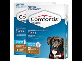 COMFORTIS chewable tablets - 6pk BROWN 27.1-54KG