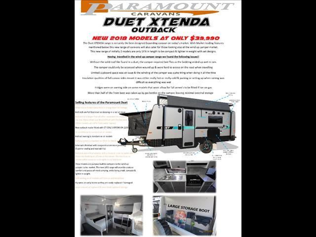 2018 Duet Xtenda pop top semi off road