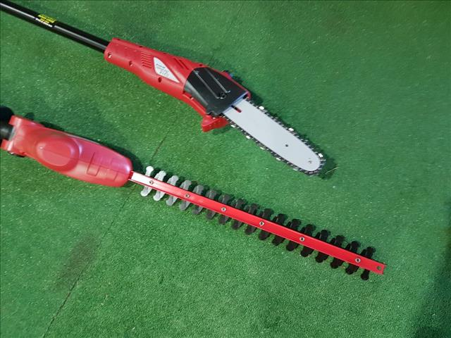 Rechareable 2in1 Pole Chainsaw & Hedgetrimmer