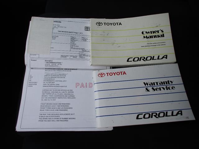 2005 TOYOTA COROLLA ASCENT SECA ZZE122R 5D HATCHBACK