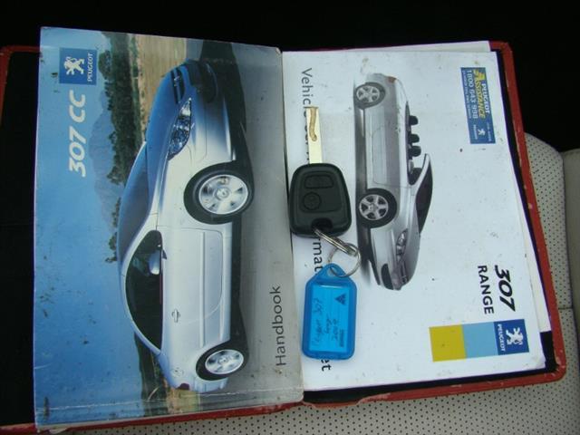 2004  PEUGEOT 307 CC Dynamique T5 MY03 CABRIOLET