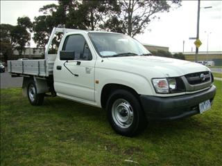 2003  TOYOTA HILUX WORKMATE SINGLE CAB RZN147R MY02 CAB CHASSIS