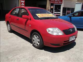 2002 TOYOTA COROLLA ASCENT ZZE122R 4D SEDAN