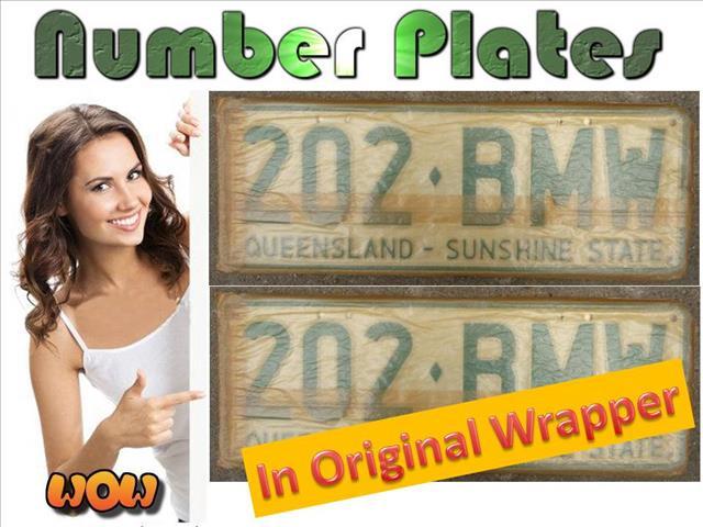 BMW license plates: SALE!