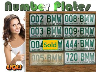 BMW License Plates - SALE