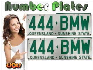 BMW license plates, on sale now.