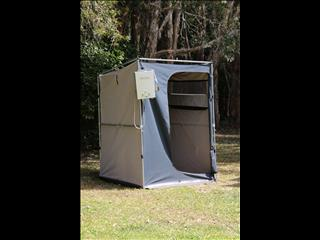 Large 16OZ Canvas Ensuite Bathroom Quick Pop Up Tent