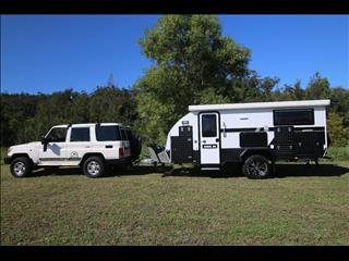 "TRAX15-X ""White Series"" Extension JAWA Off-road Hybrid Caravan - Dinnette + Bunk + Ensuite"