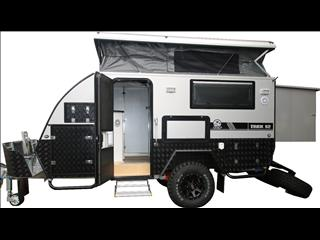 "TRAX-12 ""Silver Series""  JAWA Off-road Hybrid Caravan - Dinette + Bunk / Ensuite"