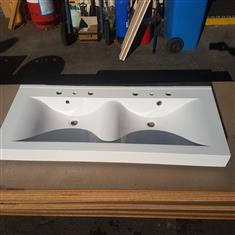DOUBLE VANITY BATHROOM SINK - MINOR SCRATCH  $85