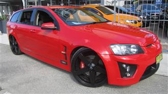 2009 HOLDEN SPECIAL VEHICLE CLUBSPORT R8 TOURER E-SERIES MY08 UPGRADE 4D WAGON