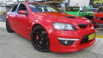 2009 HOLDEN SPECIAL VEHICLE CLUBSPORT R8 E2 SERIES 4D SEDAN