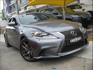 2014 LEXUS IS300H F SPORT HYBRID AVE30R MY15 4D SEDAN