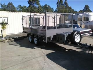 2017 mcneill tipping trailer with drop sides and cage