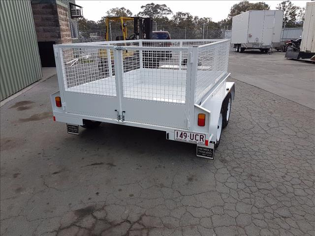 2017 new 8*5 tandem box with fixed cage trailer