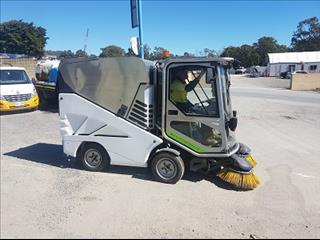 One used tenant company 636 green machine sweeper