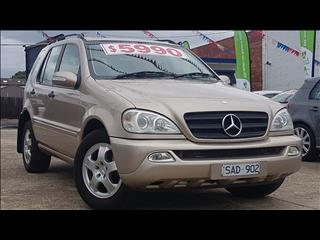 2003 MERCEDES-BENZ ML 320 LUXURY (4x4) W163 4D WAGON