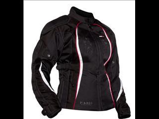 Paris Ladies Jacket Black / White - Bike Riding Gear