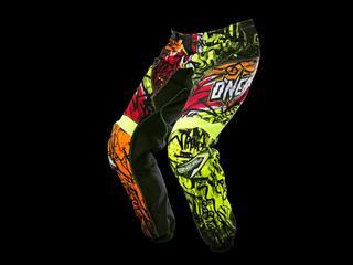 Element Vandal Pants Black/Neon/Red - Moto Cross Gear