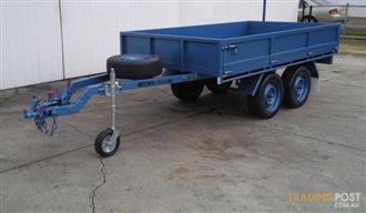 KESSNER TRAILERS - 16 x 7 FLAT TOP TANDEM TRAILER, BOX TRAILER, TRADESMAN TRAILER