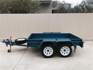 KESSNER TRAILER - 8X5 HEAVY DUTY COMMERCIAL TANDEM BOX TRAILER