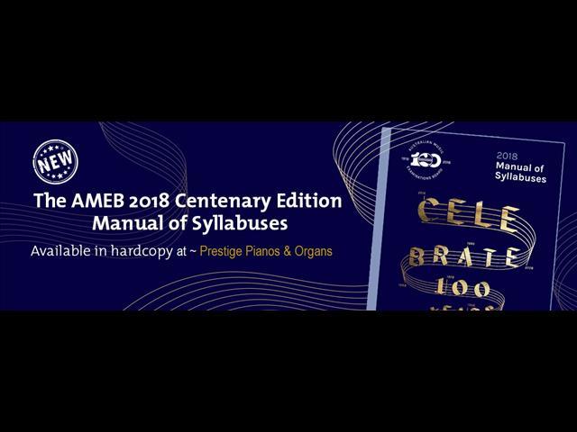 AMEB 2018 Manual of Syllabuses
