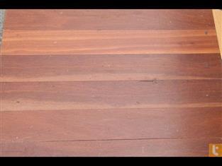 Jarrah flooring set lengths for veranders